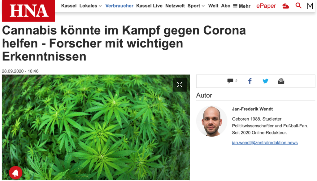 Cannabis Corona Forschung