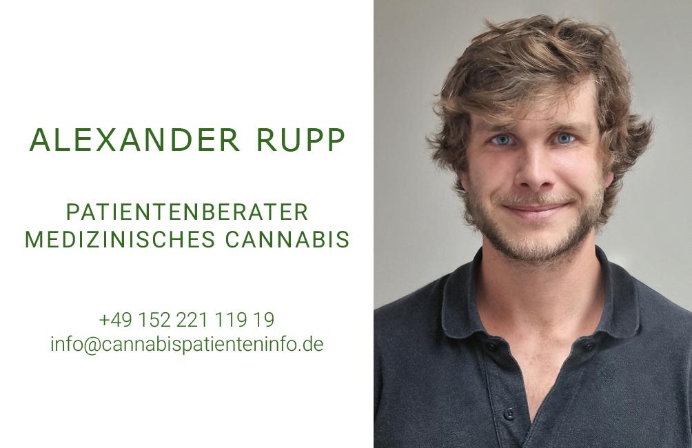 Medizinalcannabis Berater und Coach Alexander Rupp